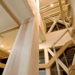 建築写真 大黒柱竣工写真