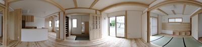 360°パノラマ写真 琴の家