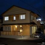 竣工写真_外観夜景:埼玉県坂戸市の建築写真