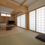 竣工写真_和室LD:埼玉県坂戸市の建築写真