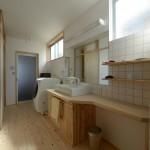 竣工写真_洗面室:埼玉県坂戸市の建築写真