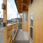 竣工写真_玄関回り:埼玉県坂戸市の建築写真