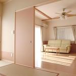 建築竣工写真 和室との続き間