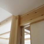 建築竣工写真 梁と和紙