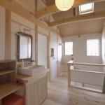 建築写真 階段ホール竣工写真