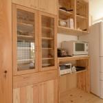 竣工写真_オリジナルキッチン棚:埼玉県坂戸市の建築写真