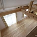 竣工写真_2F洋室小屋裏より:埼玉県坂戸市の建築写真