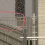 建築写真の修整 フェンスの再現